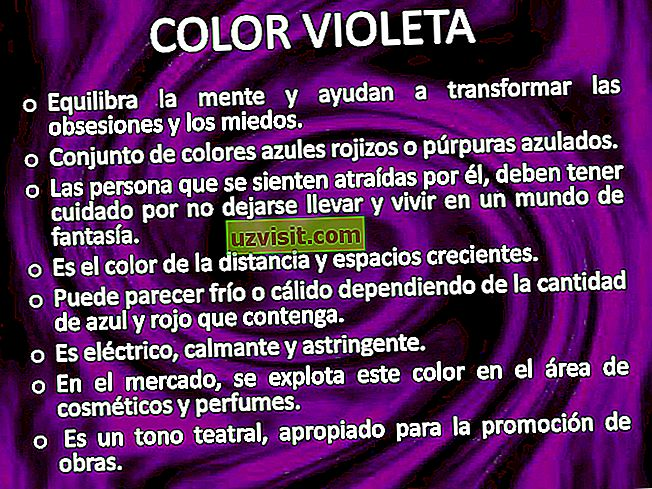 opći: Značenje ljubičaste boje