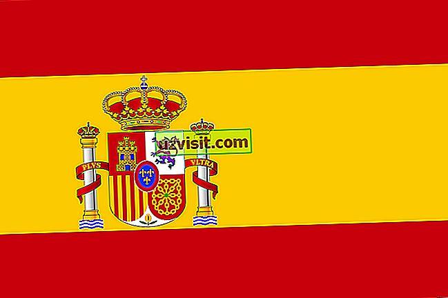 splošno: Pomen zastave Španije