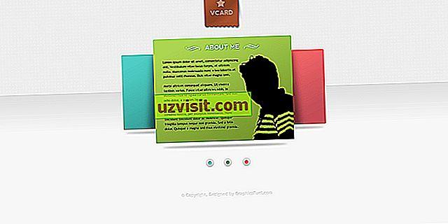 la technologie - vCard